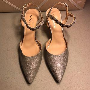 Nina Glitter Heels Size 6 1/2M
